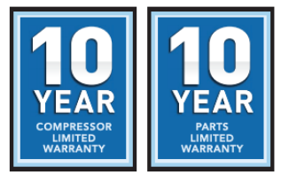 York Heat Pump 10 Year Compressor and Parts Limited Warranty